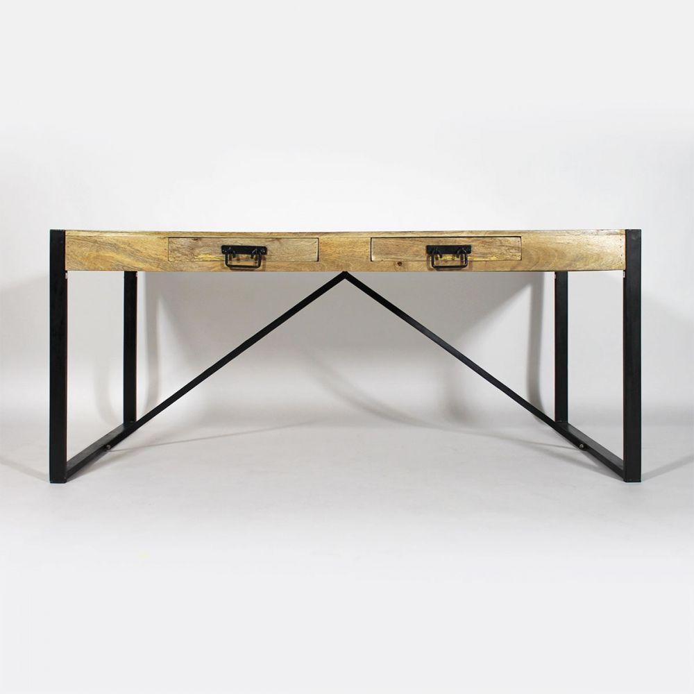 Table à manger bois métal NEW-YORK