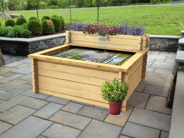 how to build a wooden pond frame