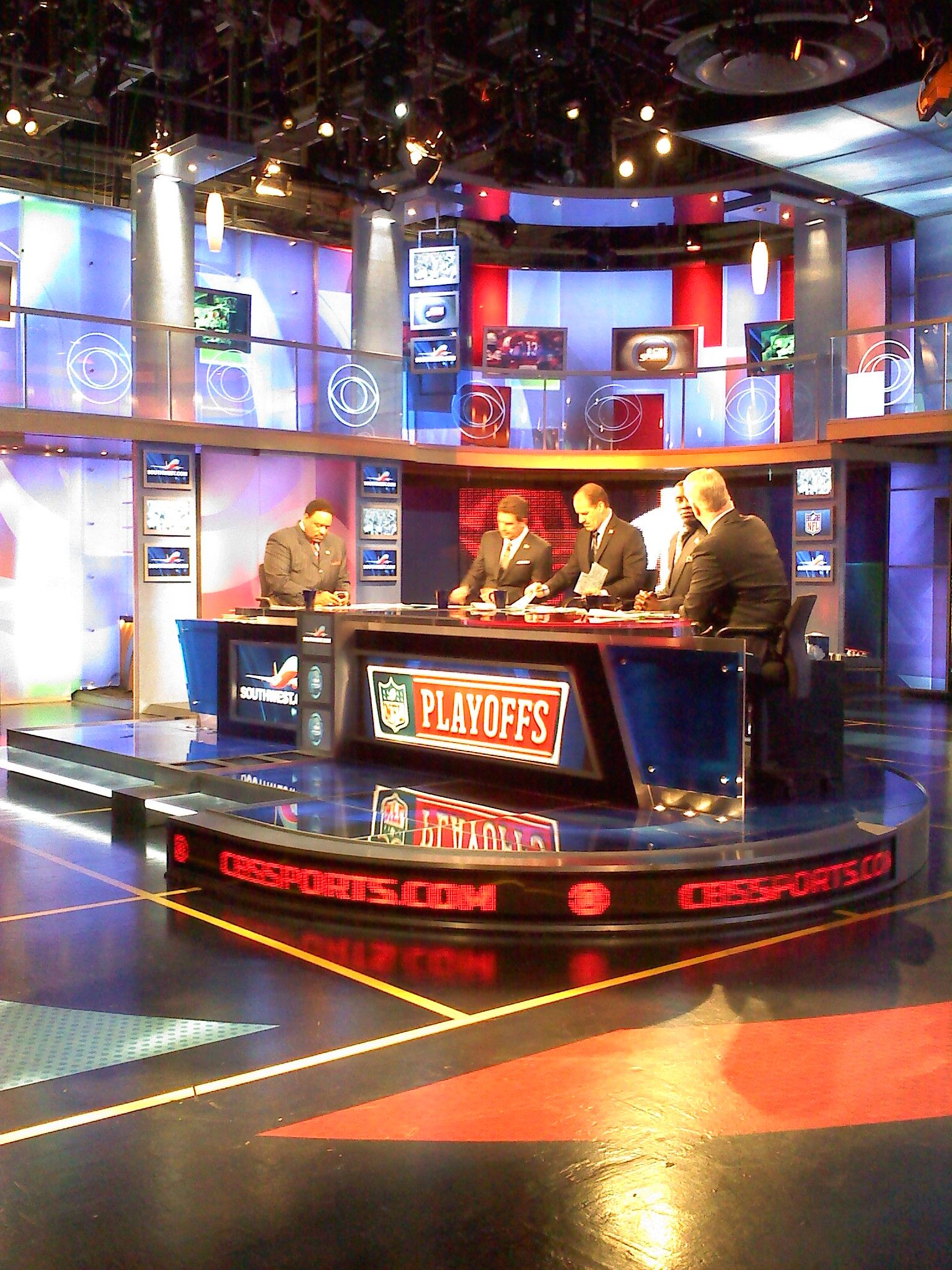 NFL Today team in CBS studio...my favorite NFL Sunday