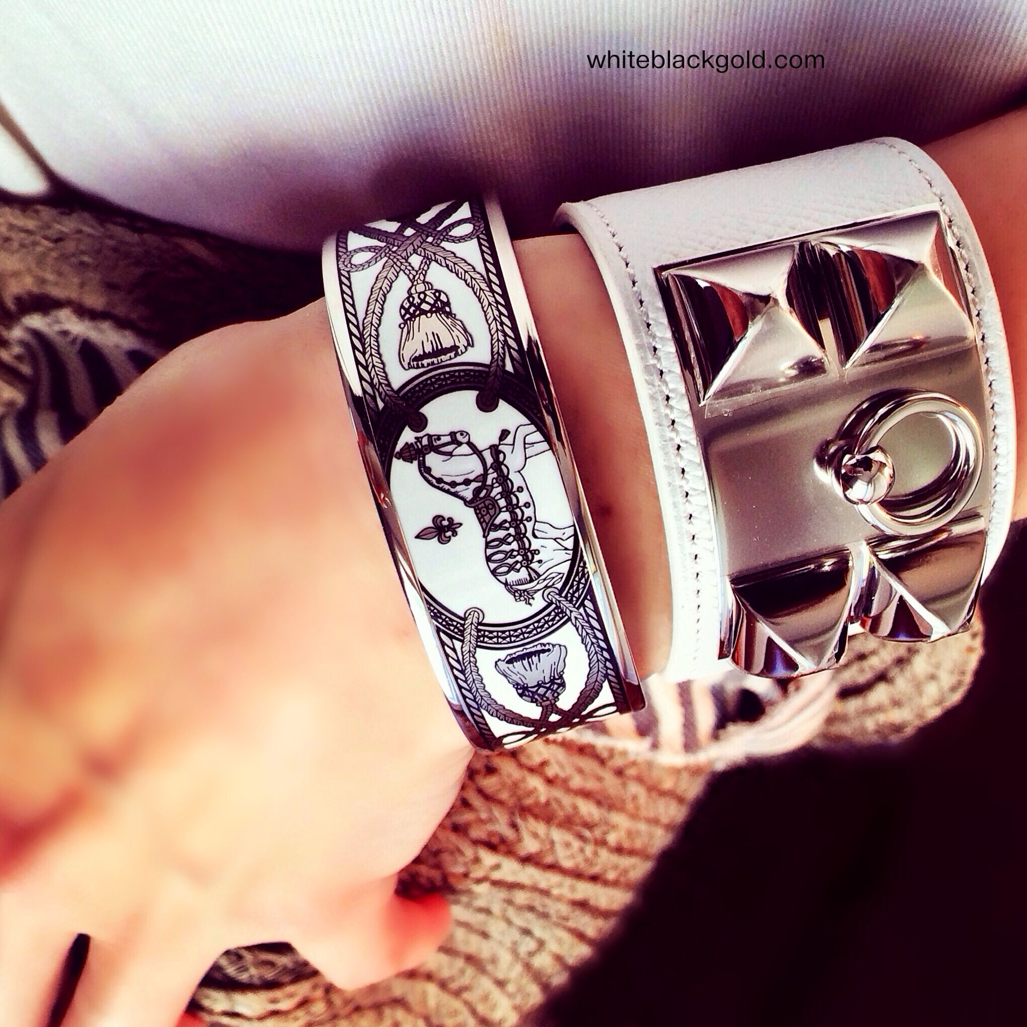 de bracelets bracelet the enlarged chien s bangle realreal collier hermes products jewelry herm