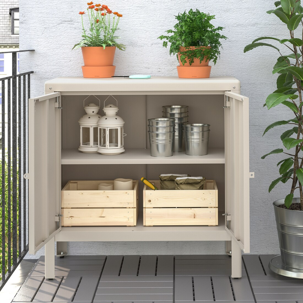 KOLBJÖRN Élément rangement int/extérieur, beige, 10x10 cm - IKEA