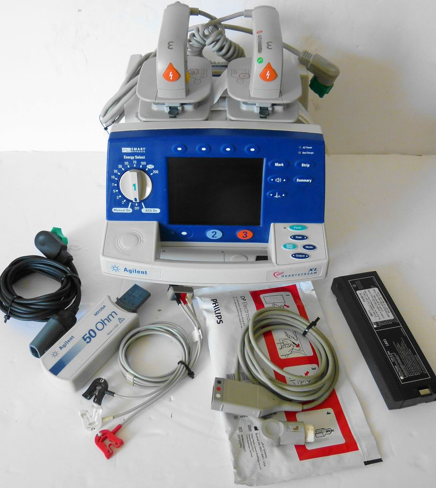 Philips Agilent Heartstream XL Biphasic AED Defib with