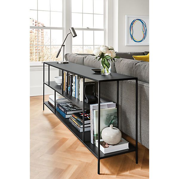 Foshay Console Bookcase   Modern Bookcases U0026 Shelves   Modern Living Room  Furniture   Room U0026 Board
