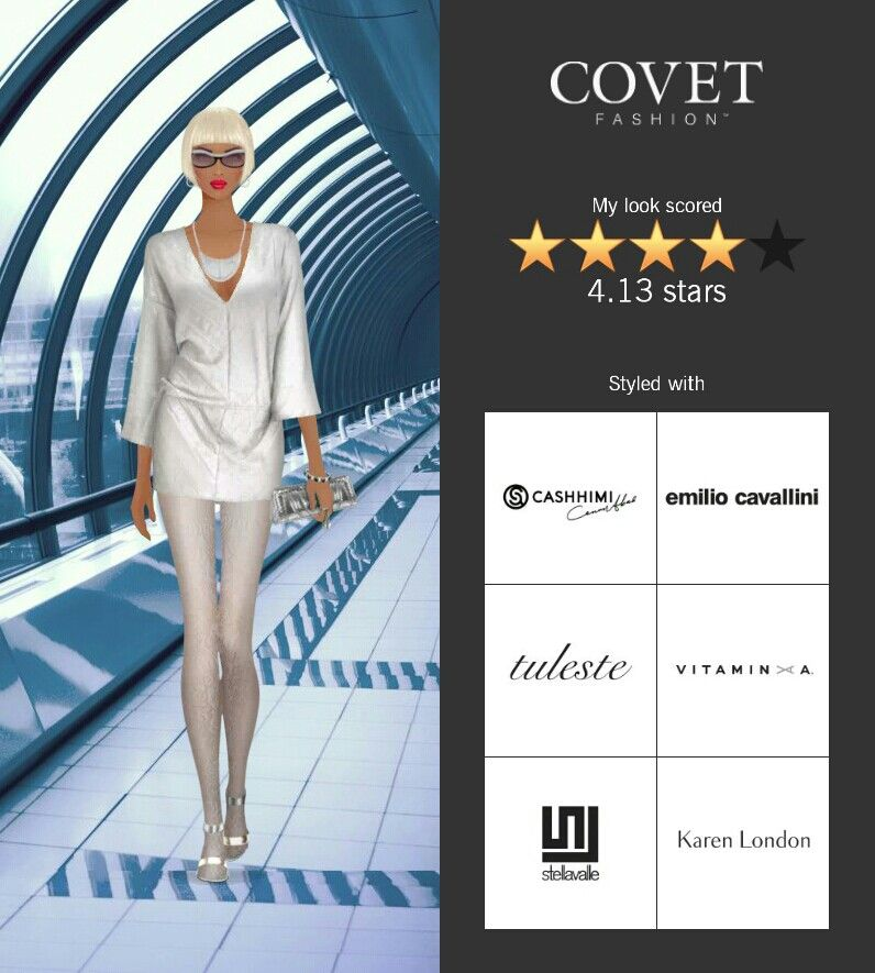 Covet Fashion Game. Look: Space and Time Traveller