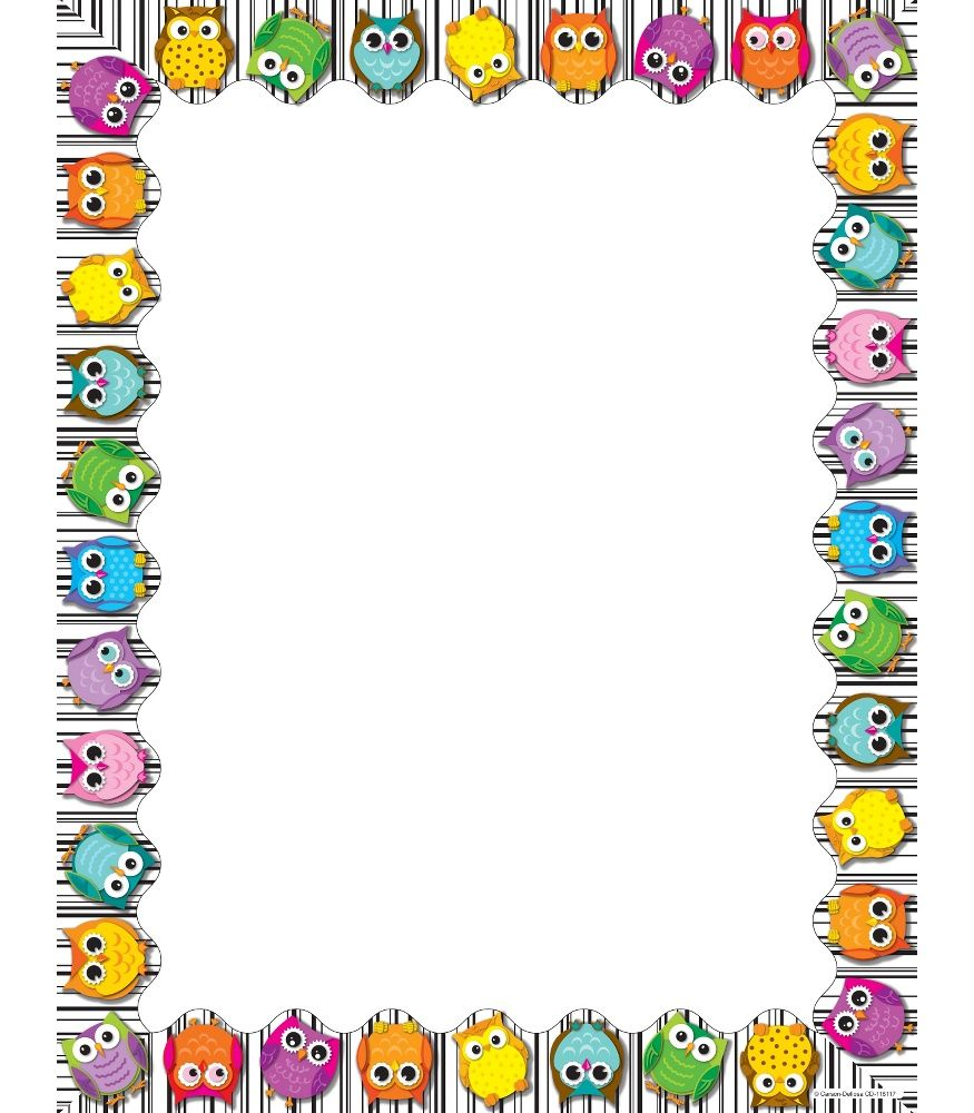 back to school bulletin board writing paper templates ppt garden use this whimsical delightful colorful owls design to promote your classroom theme so many