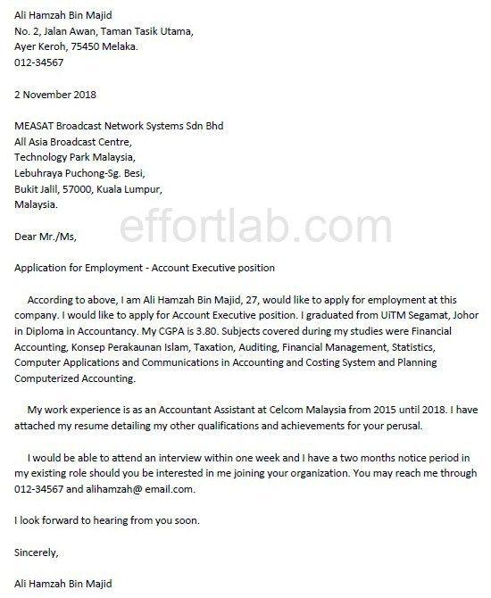 effort lab contoh cover letter atau surat permohonan kerja share