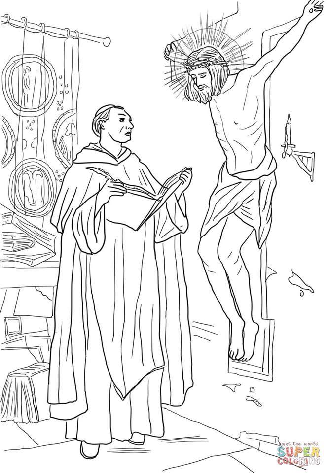 Santo Tomás de Aquino   ueue   Pinterest   Coloring pages, Bible ...