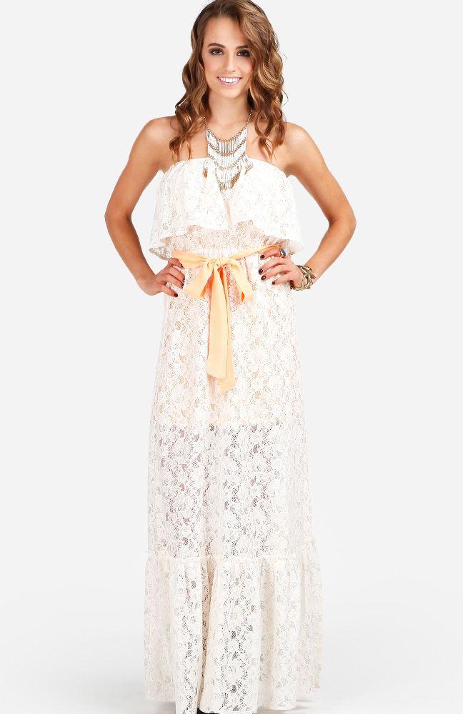 18d04f45f36f Lace Ruffle Maxi Dress | clooooothing(; | Dresses, Lace ruffle ...