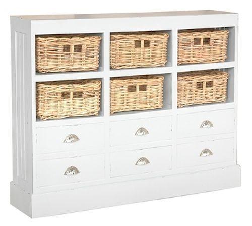 Nantucket Storage Cabinet Antique White Basket Furniture Shelves Bedding  Home - Nantucket Storage Cabinet Antique White Basket Furniture Shelves