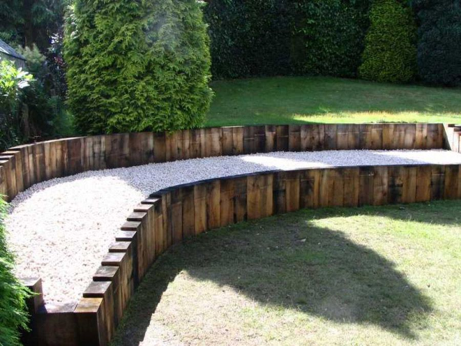 daniel nicolas landscaping with new oak railway sleepers photo 9