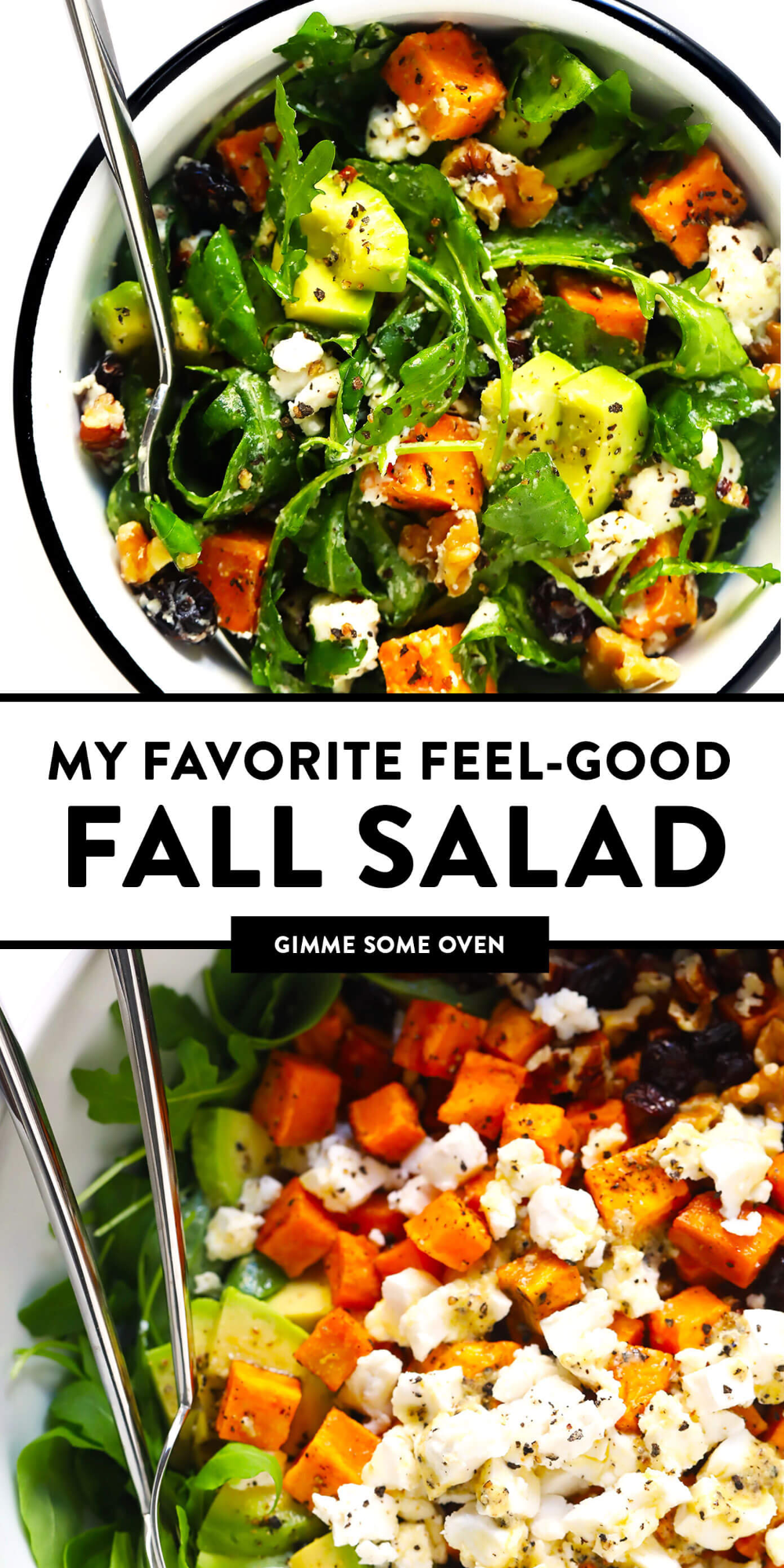 Feel Good Fall Salad Gimme Some Oven Recipe In 2020 Autumn Salad Autumn Salad Recipes Fall Dinner Recipes