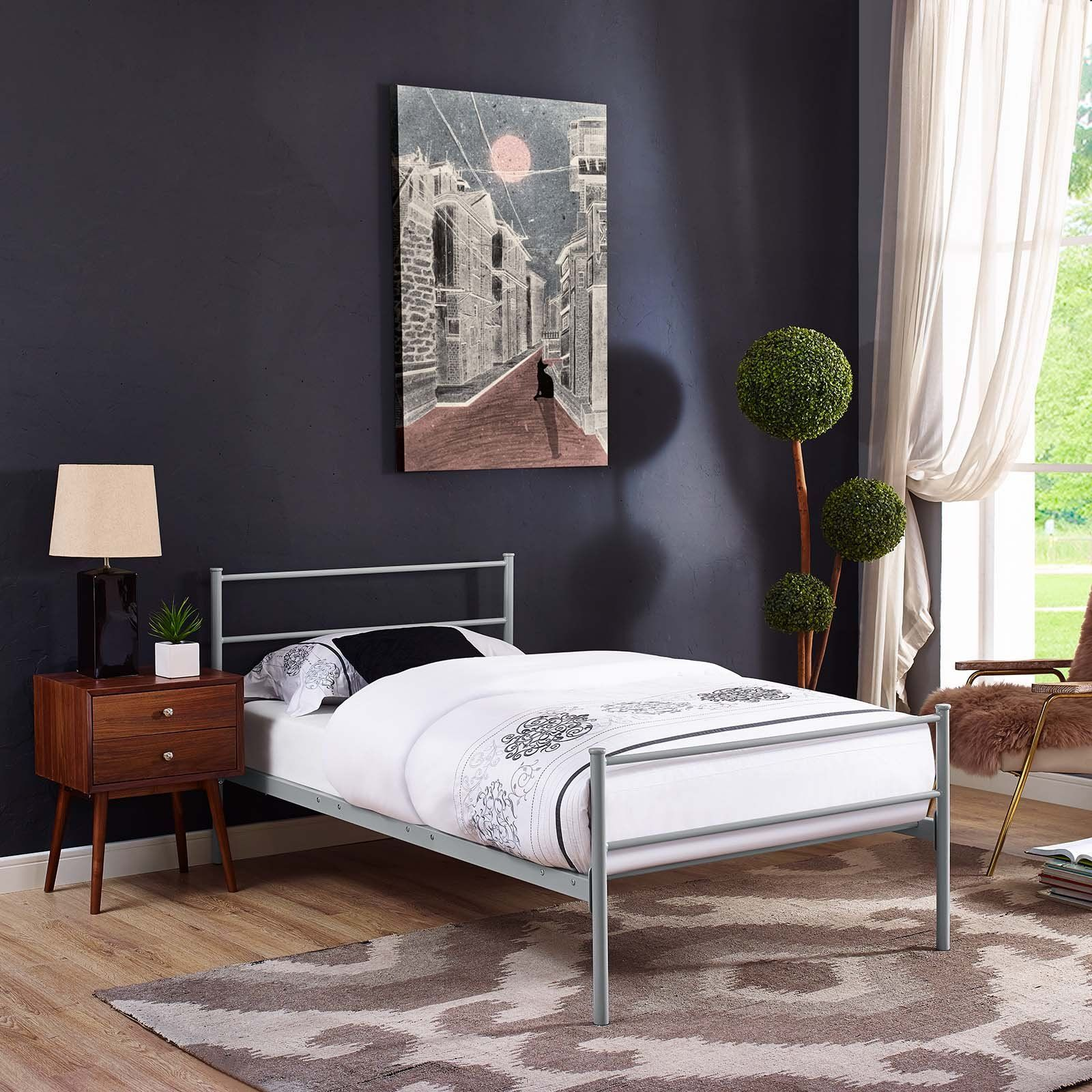 Modway Furniture Modern Alina Twin Platform Bed Frame