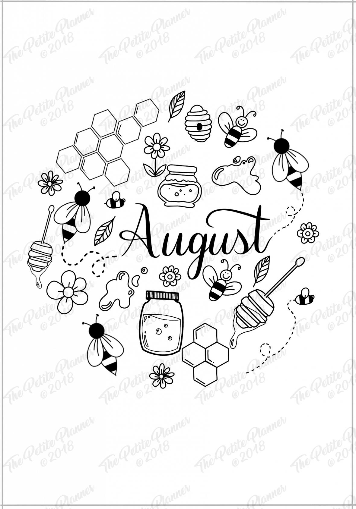 August 2019 Printable Bullet Journal Setup ⋆ The Petite Planner