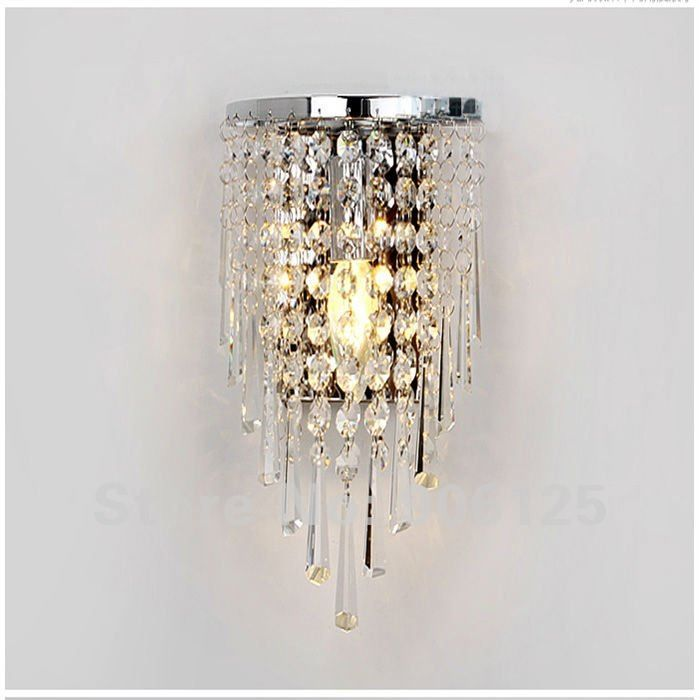 Crystal wall lamp light sconce lighting chrome finish guaranteed100 crystal wall lamp light sconce lighting chrome finish guaranteed100free shipping on aliexpress aloadofball Gallery