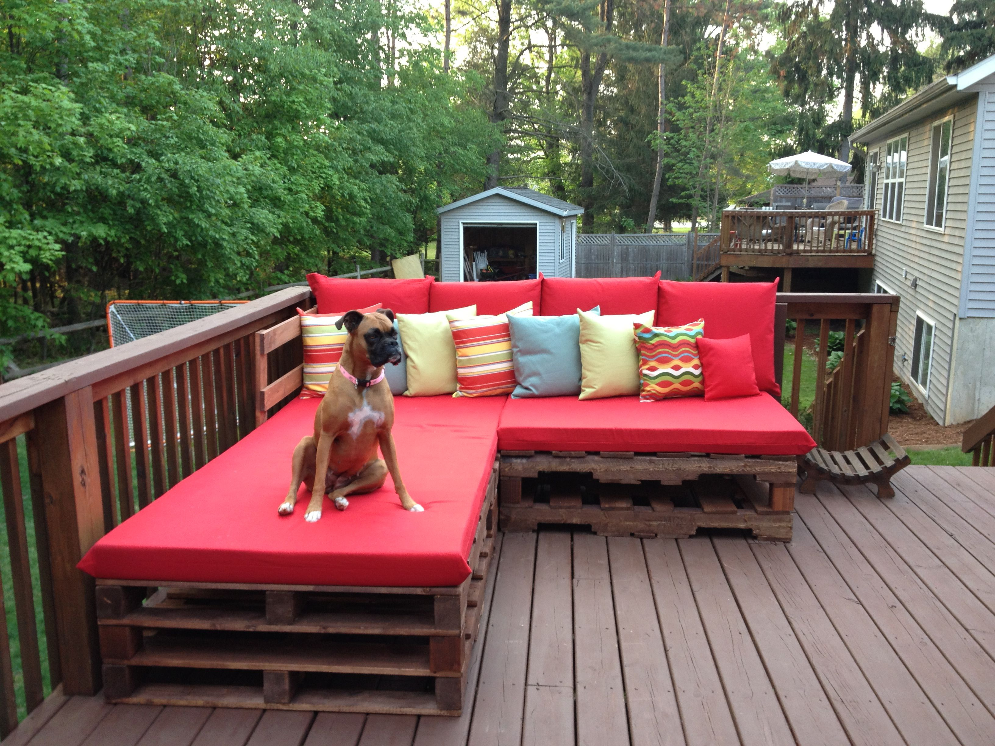Pallet Bench Lounge Build Diy Patio