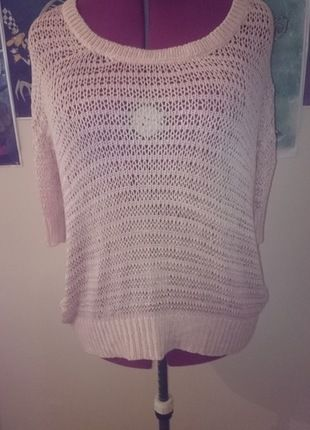 a5f235203bba5e Pink oversized lossley knitted top   For sale   Tops, Knitting, Pink