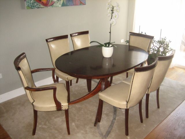"""Drexel Dining Table And Six Chairs """"new Travis Court""""  Furniture Unique Drexel Dining Room Furniture Design Ideas"""