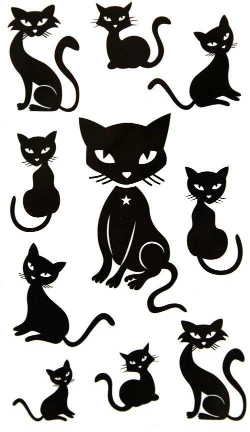 Some Cool Black Cat Templates Black Cat Tattoos Cat Tattoo Cat Silhouette
