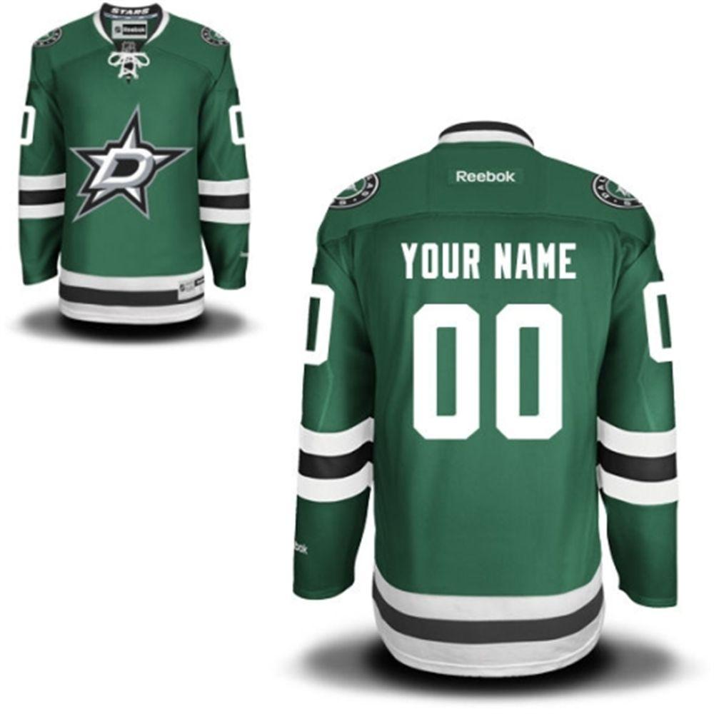 009651718 Reebok Dallas Stars Men s Premier Home Custom Jersey - Green ...