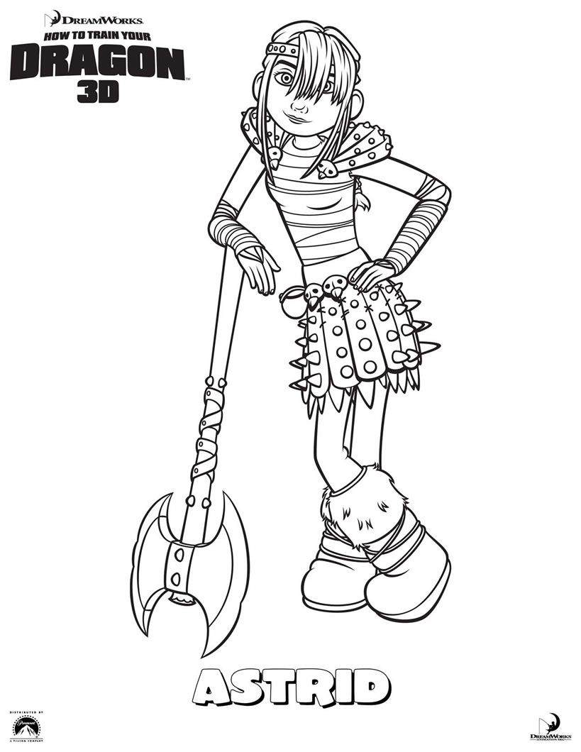 Astrid Coloring Page Find Your Favorite In HOW TO TRAIN YOUR DRAGON Pages Section This Would Make A