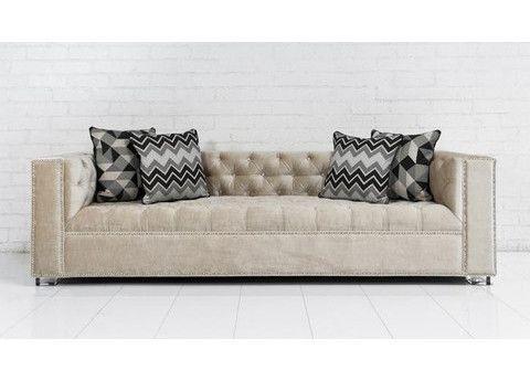 Lola Sofa In Cream Velvet | ModShop