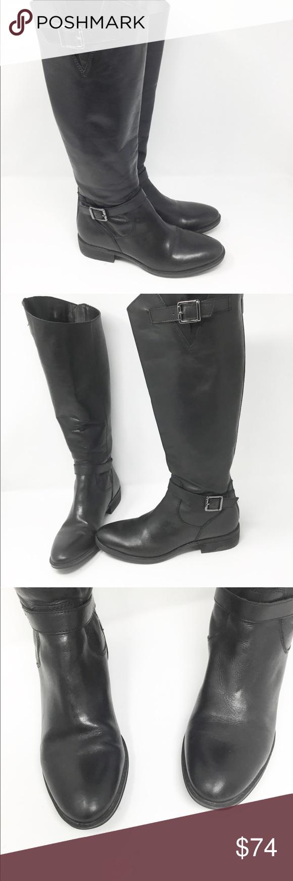 655b73a19da8e Sam Edelman Painter black leather riding boots Sam Edelman black leather  riding boots Size  7.5