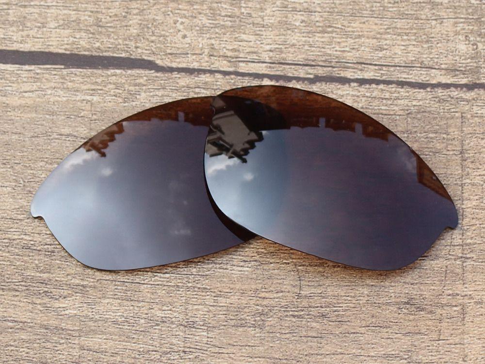 4e6238e9a8 Polycarbonate-Copper Brown Replacement Lenses For Half Jacket Sunglasses  Frame 100% UVA   UVB