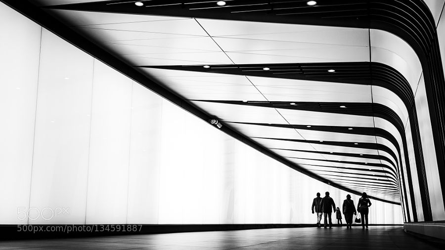 Family Day Out - Pinned by Mak Khalaf Black and White ArchitectureCityKings crossNikonTunnel by seanbatten