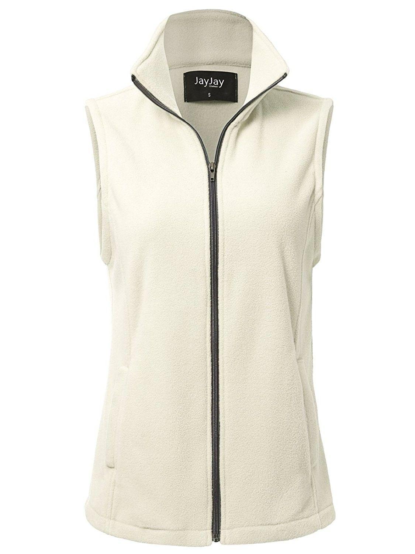 Women Ultra Soft Breathable Full-Zip Fleece Vest Jacket