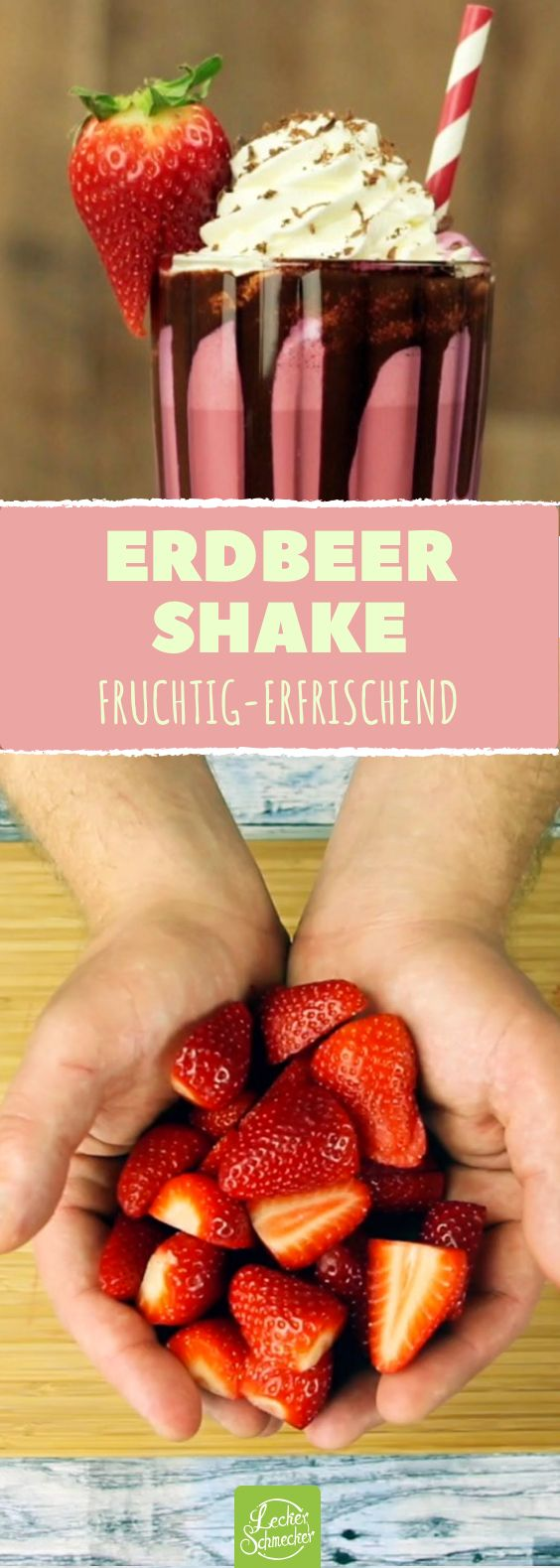 Ein Erdbeer-Milchshake-Rezept, das leicht selber zu machen ist