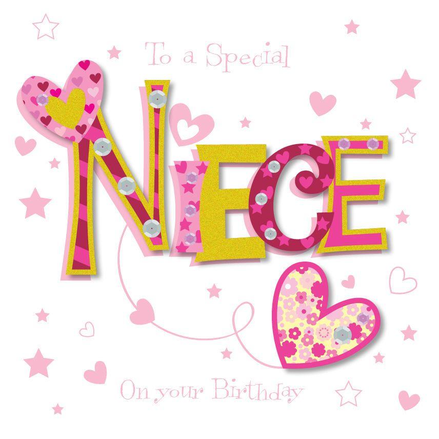 Special Niece Happy Birthday Greeting Card By