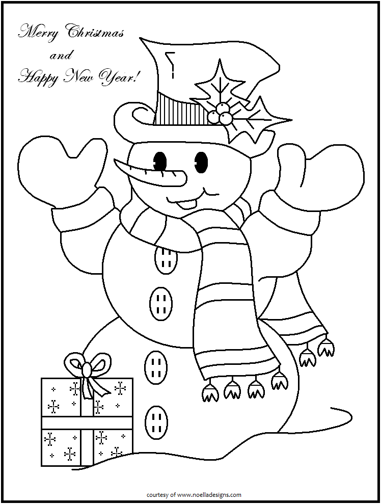 Snow People 1 Printable Christmas Coloring Pages Snowman Coloring Pages New Year Coloring Pages
