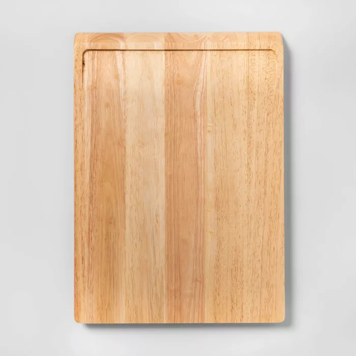 13 X18 Rubberwood Carving Board Made By Design Carving Board Made By Design Natural Dining Room