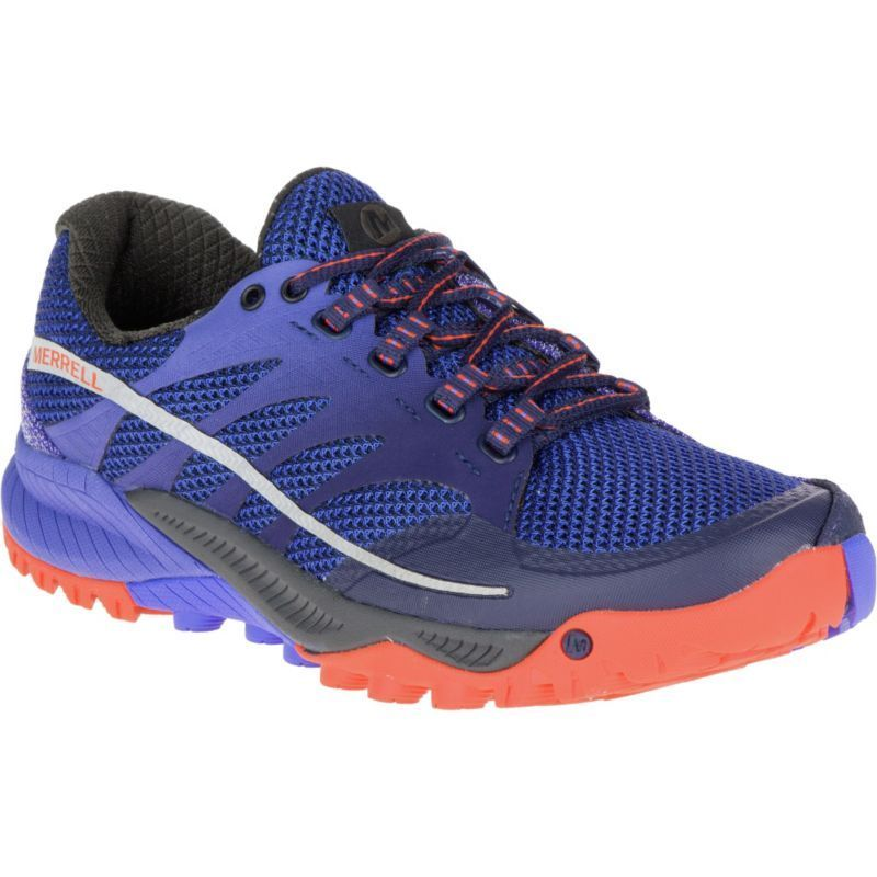 Merrell Women's All Out Charge Trail Running Shoes, Purple  #trailrunningshoes
