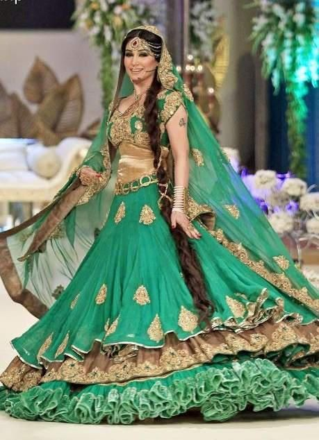 Elegant Asian Bridal Wedding Dresses Collection 2013