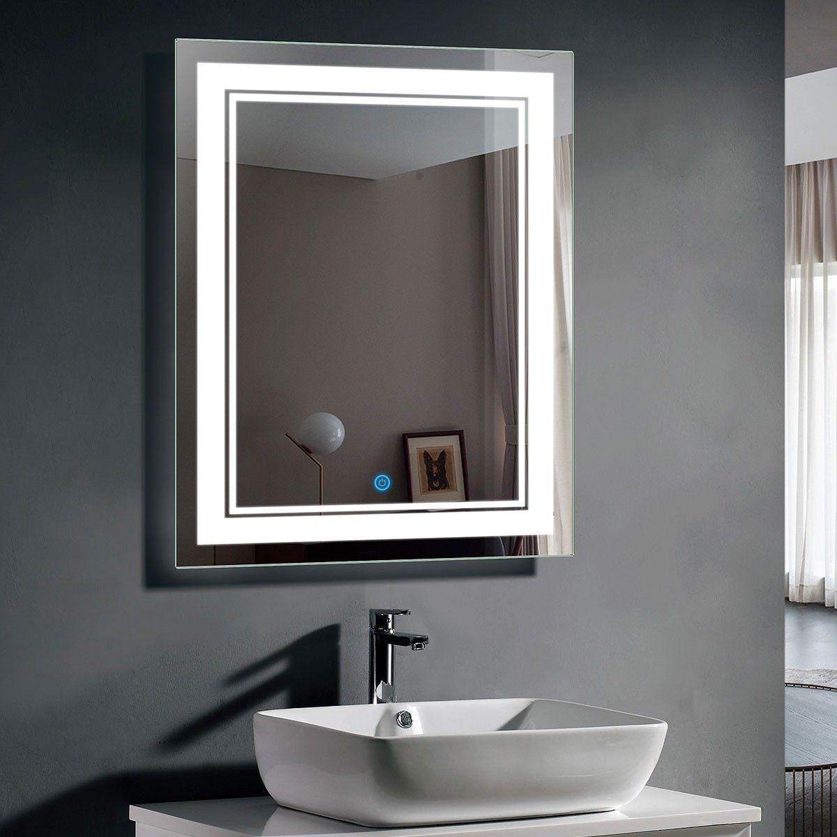 Lovely Lighted Bathroom Wall Mirror Mirror Wall Bathroom Led Mirror Led Mirror Bathroom