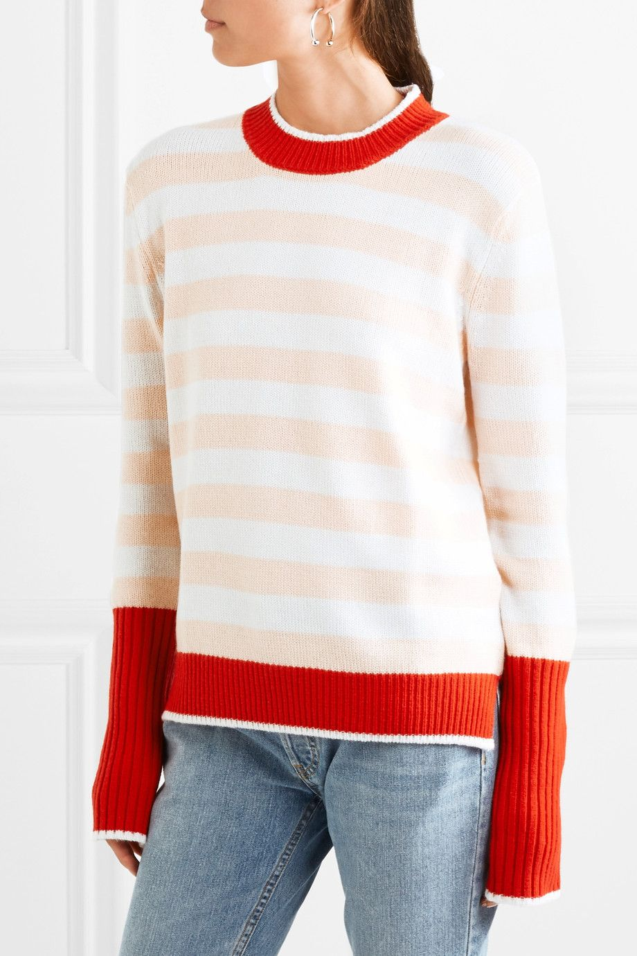 Best Sale Striped Cashmere Sweater - Blush La Ligne Find Great For Sale hDXY4c1