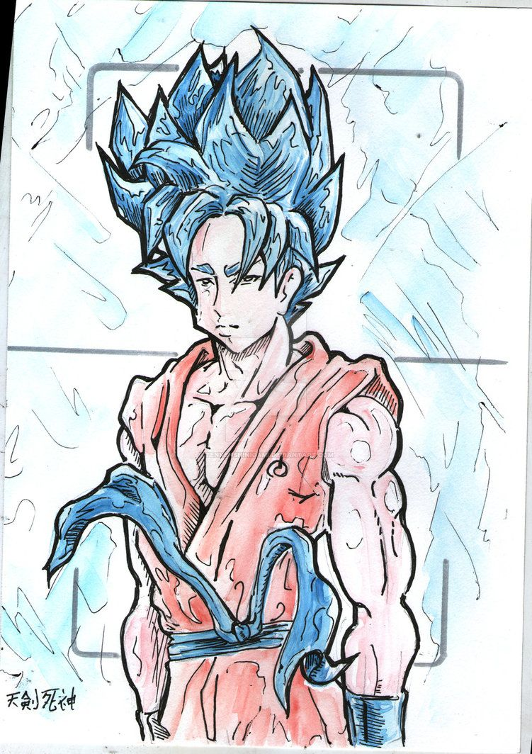 Goku blue by tenkenshinigami.deviantart.com on @DeviantArt | dragon ...
