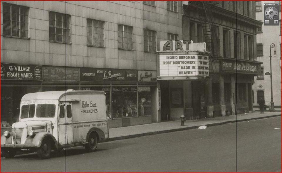Art movie theater 1941 8th off of university vintage