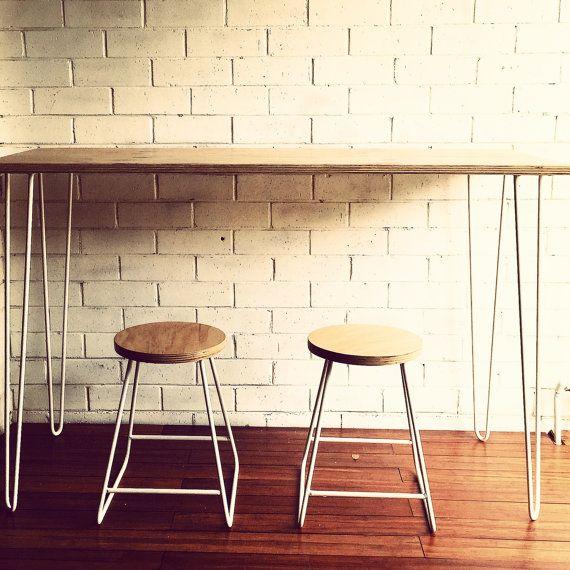 Plywood 2 Rod Hairpin Leg Desk Pinterest Horca