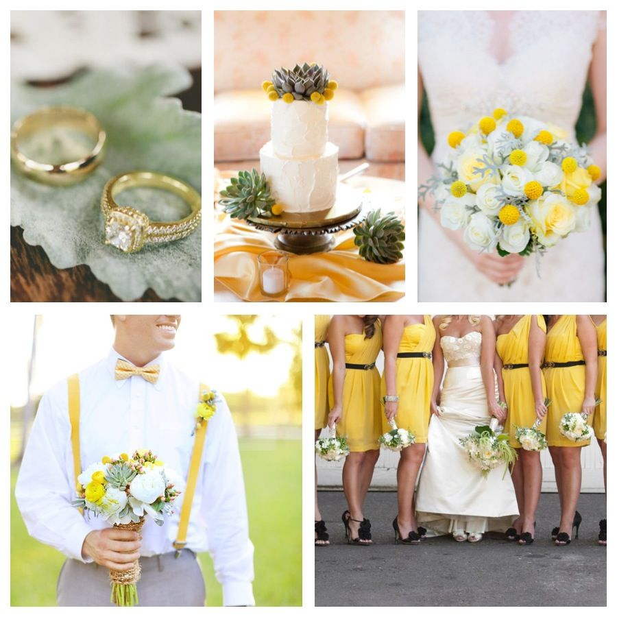Yellow Wedding Colors, Wedding