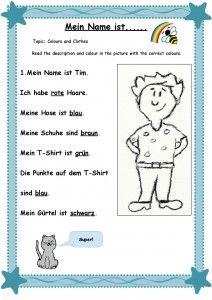 Mein Name ist Arbeitsblatt 1-page-001 | Bumblebee German for kids ...