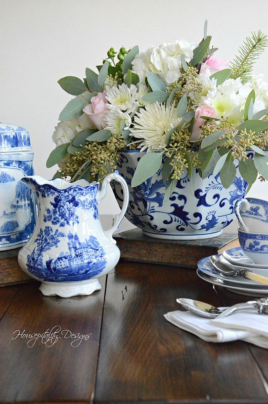 Housepitality Designs: Blue And White Vignette-Housepitality Designs-3