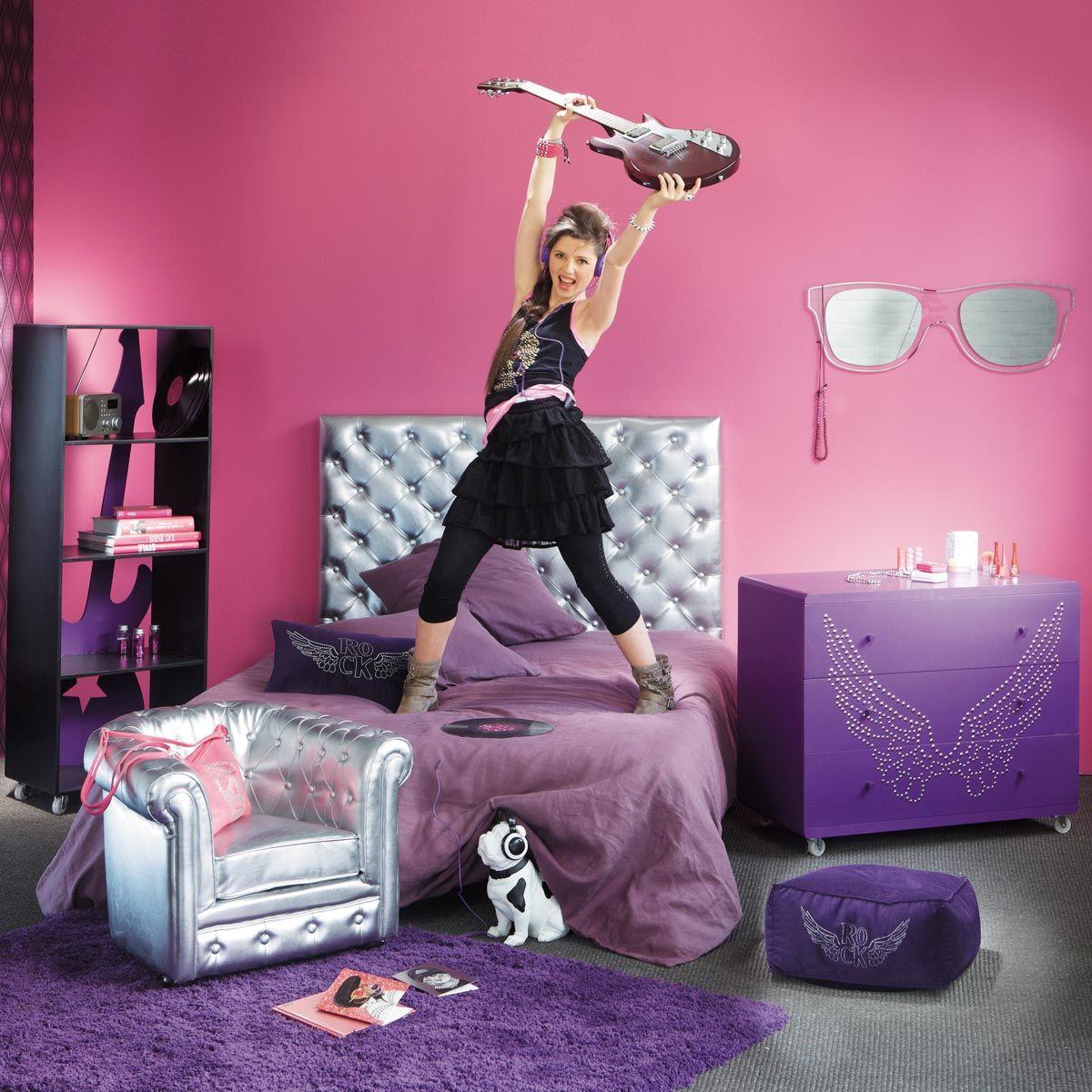 Rock angel wings cushion, mauve  Maisons du Monde  Deco chambre