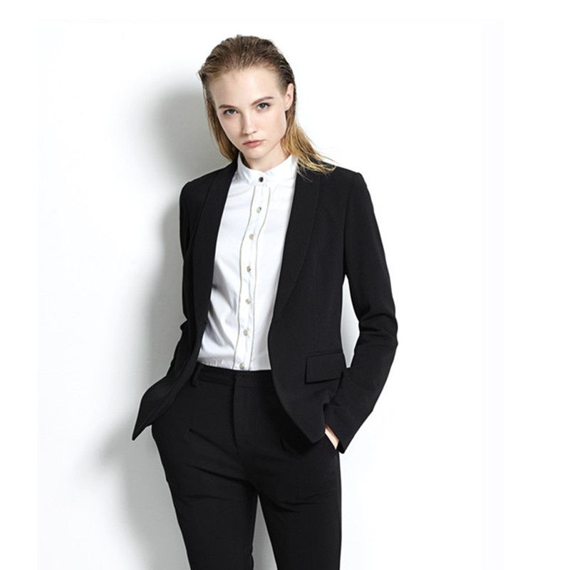 Fashion Women\'s One Button Slim Casual Business Suit Custom made ...
