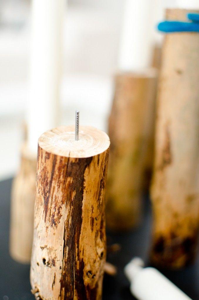Kerzenleuchter Aus Holz | Vintage, Bauchmuskeln Und Selber Machen Diy Weihnachtsdeko Aus Holz