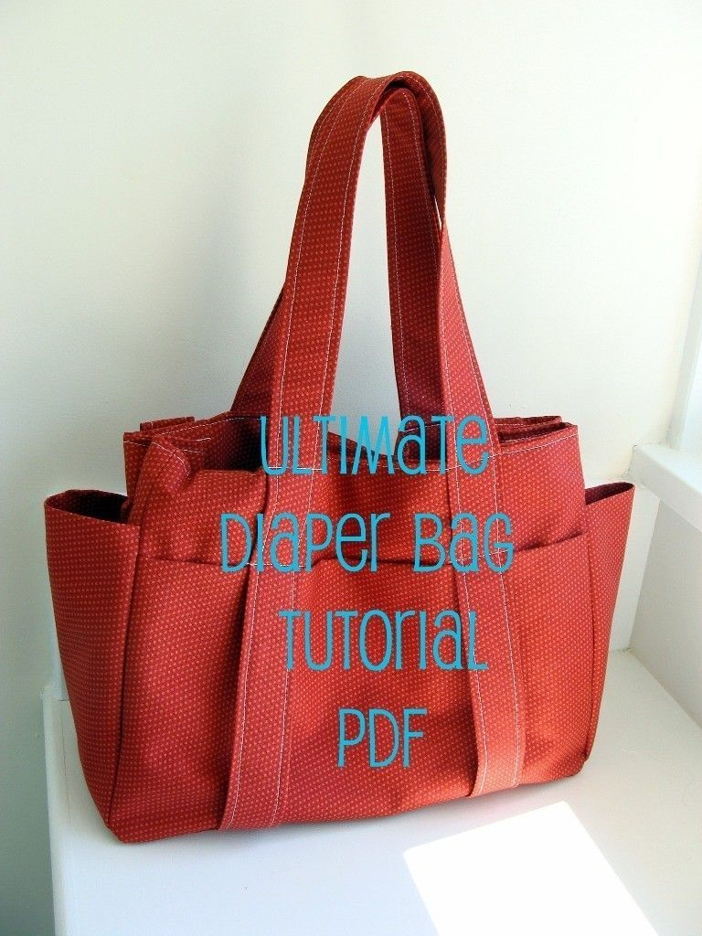 d7f115125a0a Diaper bag tutorial PDF - Cost 12.95 but description has good ideas such  stroller straps that can be added