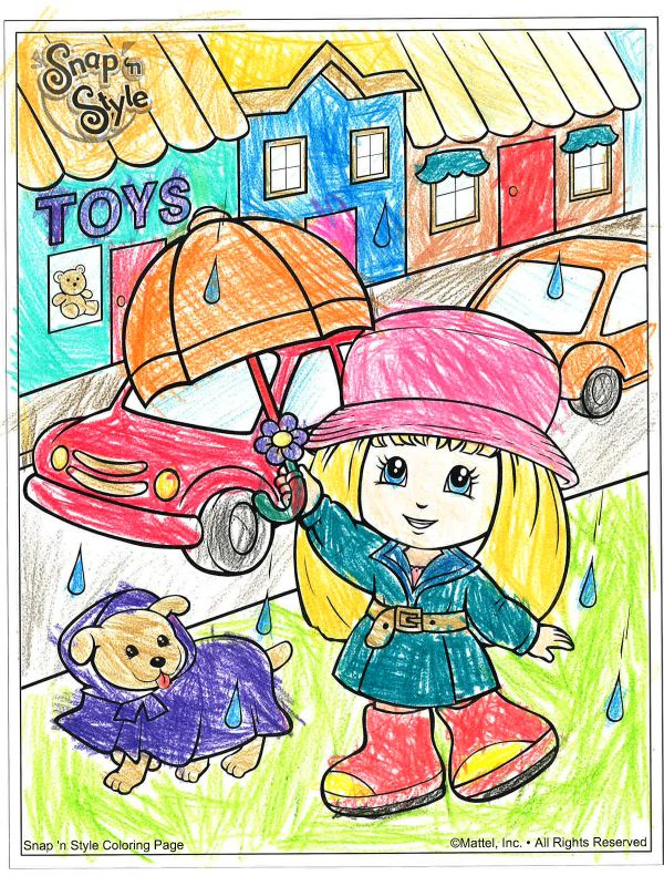 Brighten Up A Rainy Day With These Print And Color Pages Spring Crafts Rainy Day Fun Daycare Crafts Spring Crafts