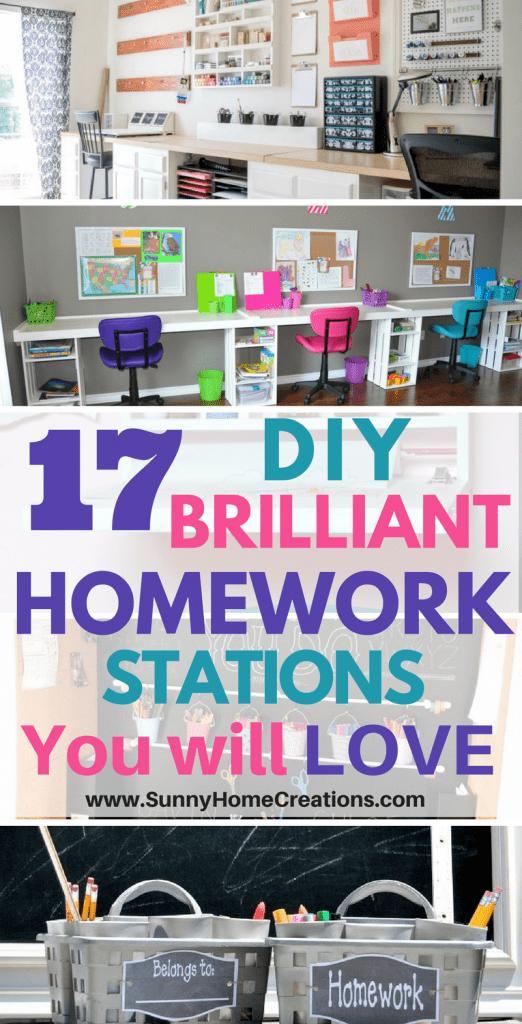 Creating A Homework Station Kids Homework Station Homework Station Diy Homework Station
