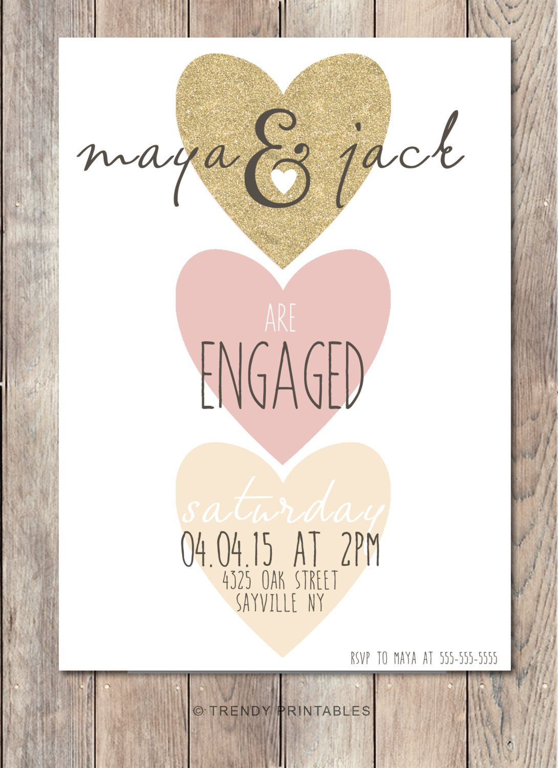 Engagement Party Invitation We\'re Engaged by TrendyPrintables ...